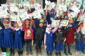 """مدرسة """"البيان"""" للأيتام في مدينة نوى بدرعا تكرّم طلابها وترسم البسمة على وجوههم"""