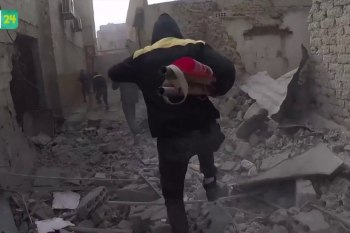 جرحى بقصف جوي على الغوطة الشرقية بالرغم من إعلان الهدنة الرابعة
