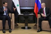 """الأسد يتوّعد من حضن بوتين.. """"سنستمر بدحر الإرهاب"""""""