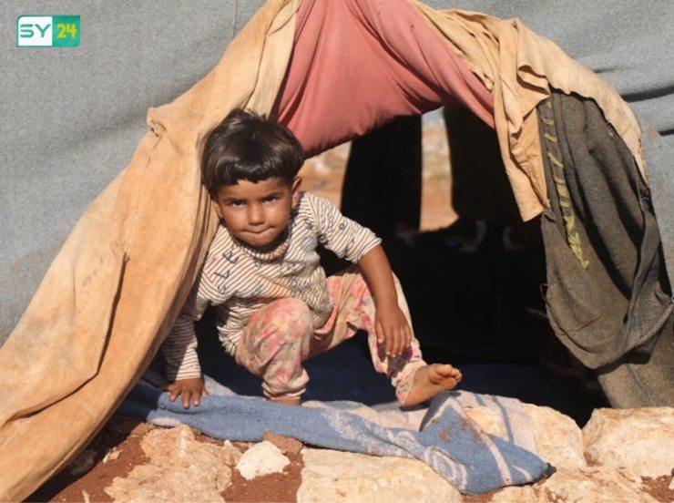 نازحو ريف حماة في المخيمات العشوائية شرق إدلب