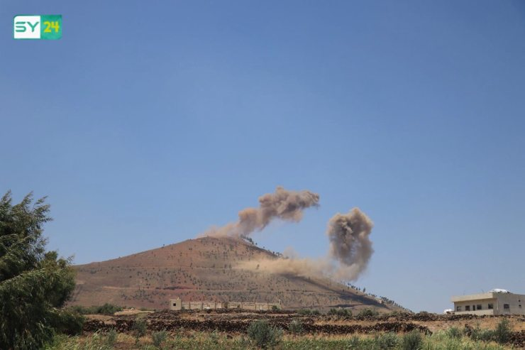 قوات النظام وحلفائها تقصف تل الحارة في درعا