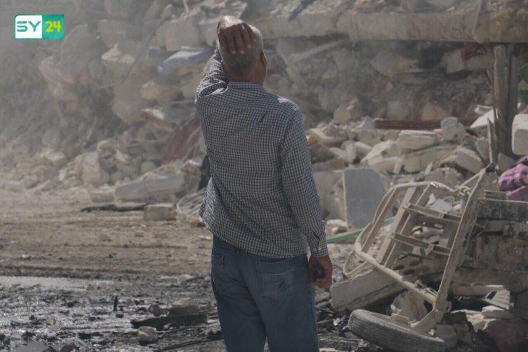 بالصور: دمار كبير نتيجة الانفجار الضخم في سرمدا