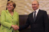 ميركل تبحث مع بوتين الملف السوري في برلين