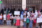 وقفة تضامنية مع سكان مخيم الركبان في ريف حلب الجنوبي