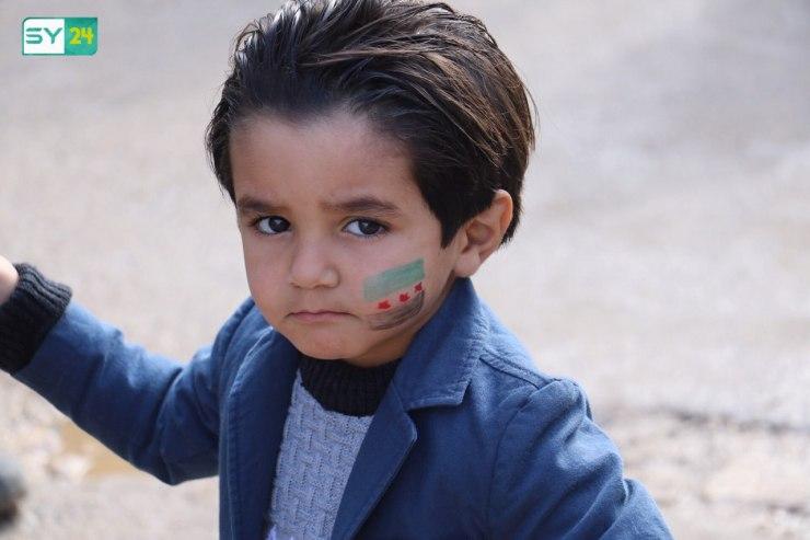 """""""المعتقلون أولاً"""".. أولى مطالب الأهالي في مظاهرة بلدة عويجل بريف حلب من المبعوث الجديد بيدرسون"""