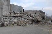 انهيار مبنى كامل في كفرحمرة شمال حلب