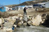 مخيمات خربة الجوز شمال إدلب تفيض بالمياه وحالة مأساوية للنازحين