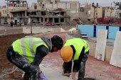 فريق التدخل المبكر يعيد تأهيل دوار النعيم بهدف إزالة آثار الحرب