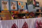 معرض فني بأنامل الأطفال وبمساعدة معلميهم في مدينة جرابلس