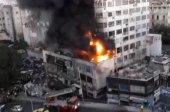 إنقاذ 100 شخص من حريق اندلع داخل برج سكني في دمشق