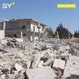 إصابة 5 مدنيين بينهم طفلان جراء قصف جوي بـ 12 صاروخاً استهدف مدينة جسر الشغور بريف إدلب مساء أمس