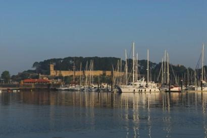 Hafen in Baiona