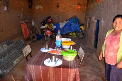 Mittagessen in der Garage