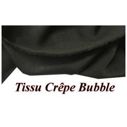 tissu crepe bubble au metre noir uni a