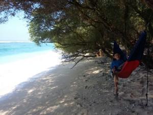 Hammock di Pantai Gili trawangan