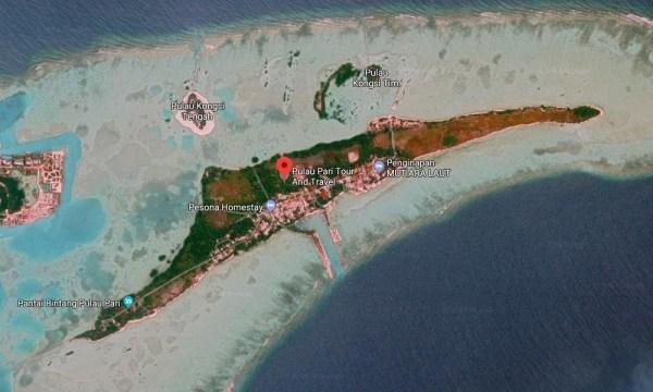 Peta Pulau Pari dari Udara
