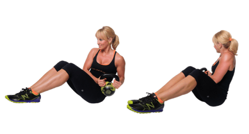 Image result for Seated Kettlebell Twist