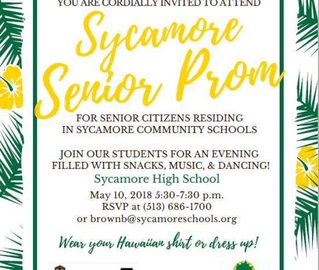 Sycamore High School To Host 1st Annual Senior Prom