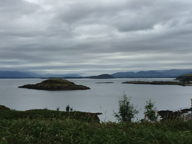 The view over the entrance north of Kerrera island to Oban