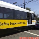 Bus crash image safety slogan