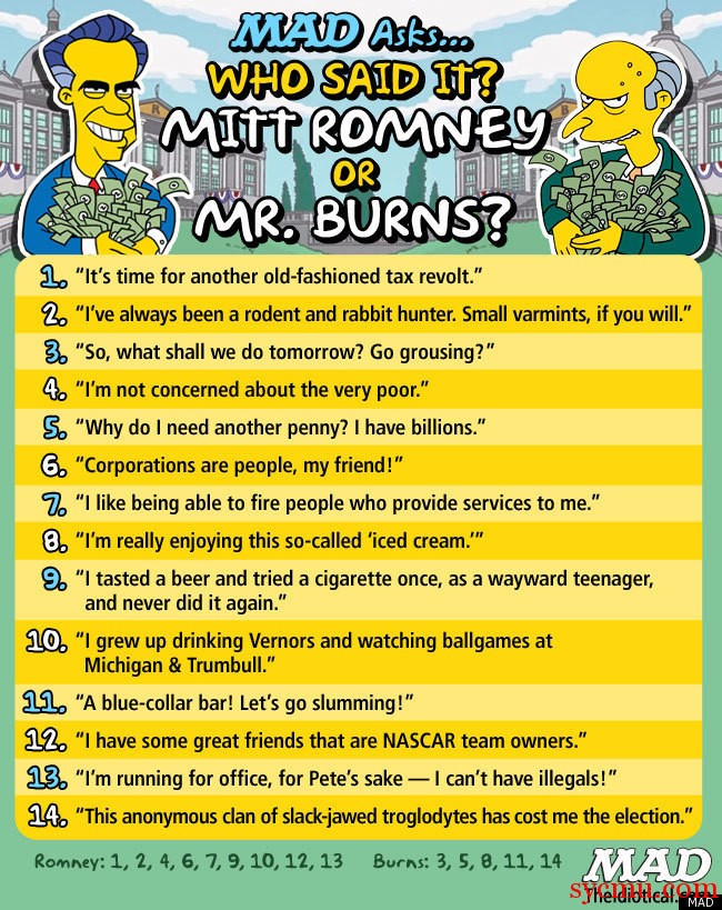 Mitt Romney is just like Mr. burns