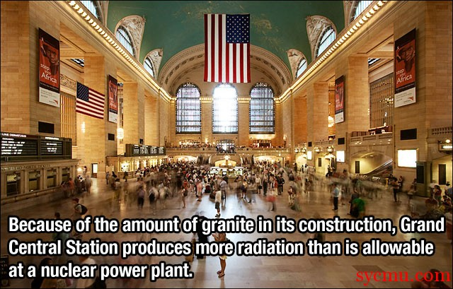 Granite produces radiation