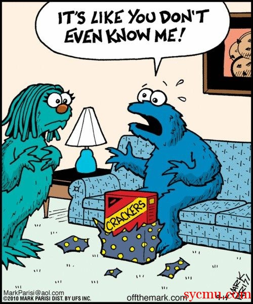 Cookie Monster Gets the Wrong Christmas Gift from His Wife