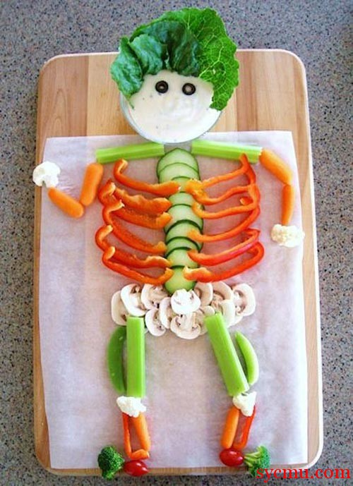 Man made with Vegetables