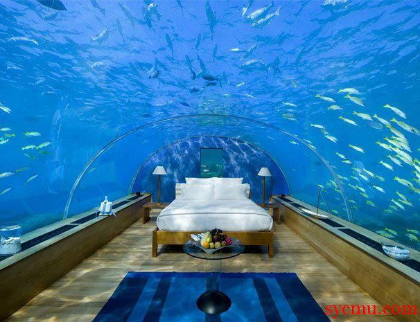 Bed in the ocean