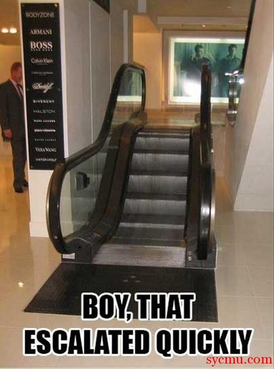 Shortest Escalator ever