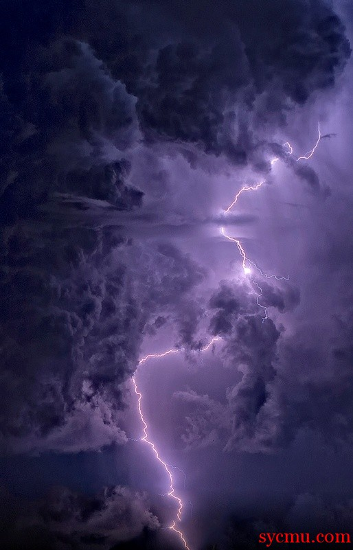 Striking image of lightning