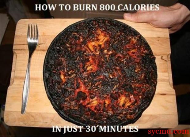 burnt pizza