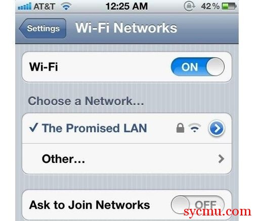 The promised land Wi-Fi