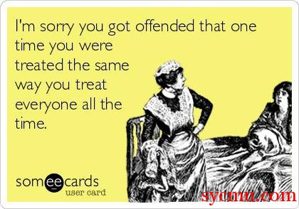 Sorry you got offended