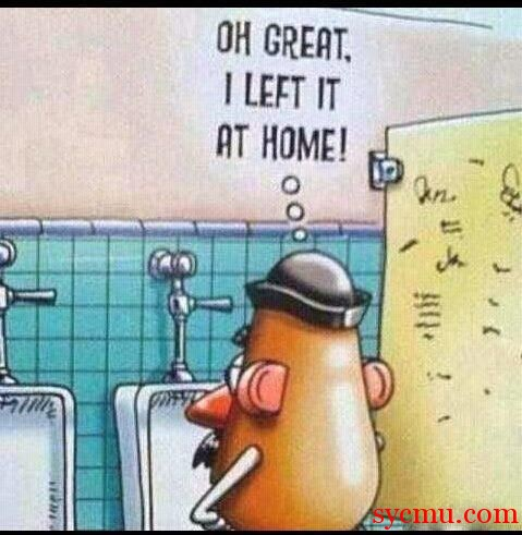 Mr. Potato head left his penis
