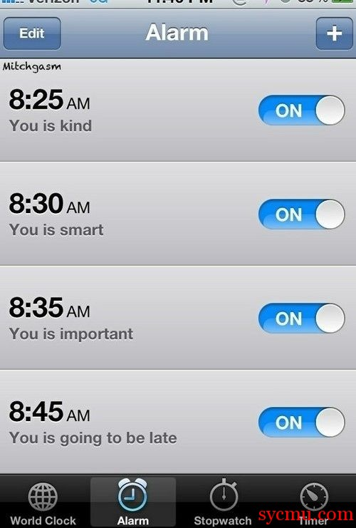 You is Kind iPhone Alarm