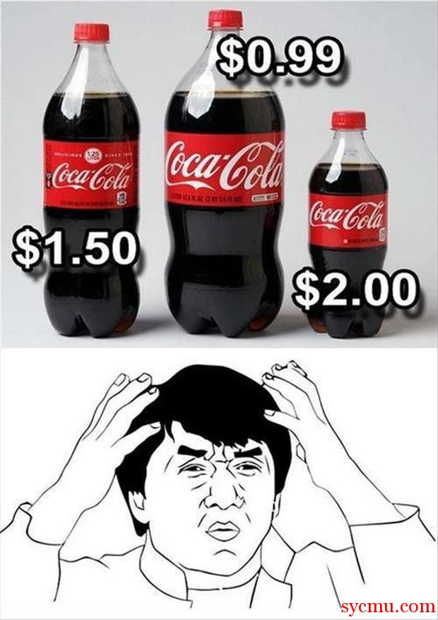 Smaller Coca Cola more expensive