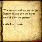 The Trouble With Quotes on the Internet (Lincoln)