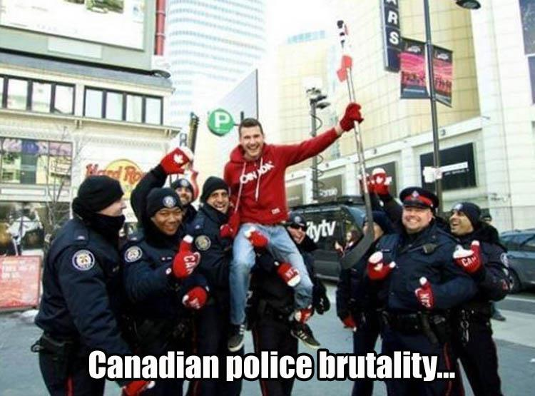 Canadian Police Brutality Picture