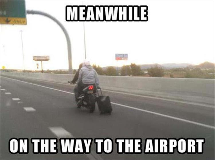 Suitcase on Motorbike Airport