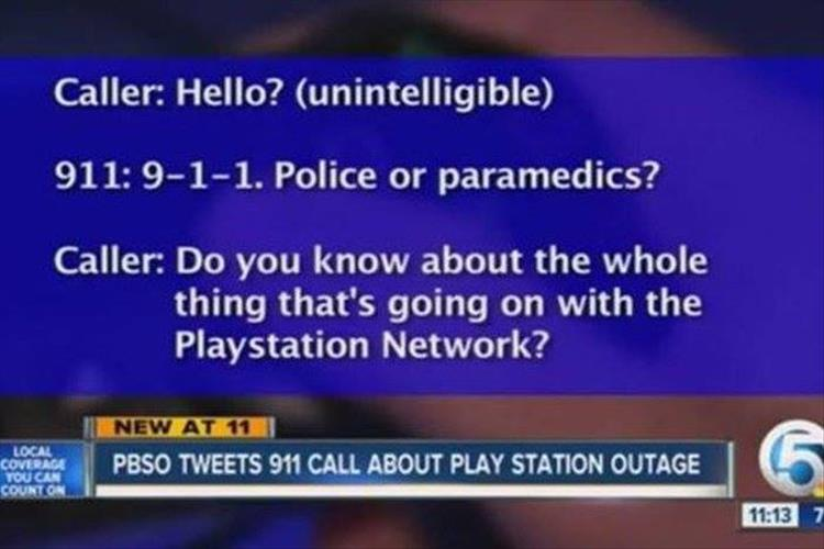 Playstation Network 911 call