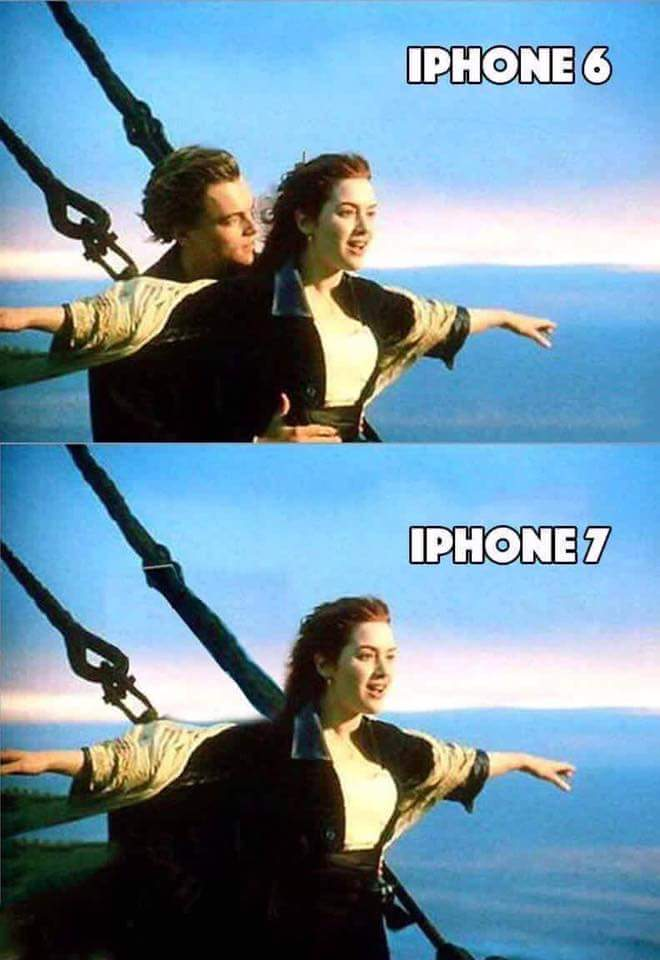 iPhone 6 vs iPhone 7 Titanic Jack Joke