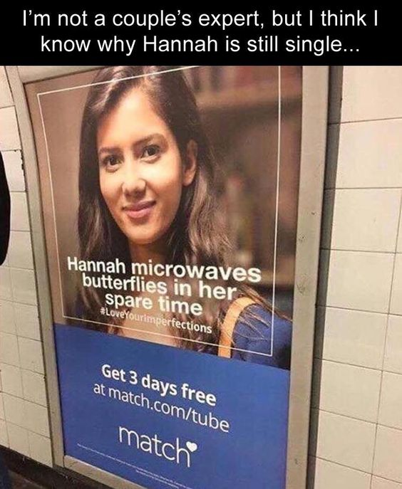 Hannah is Single Butterflies Microwave