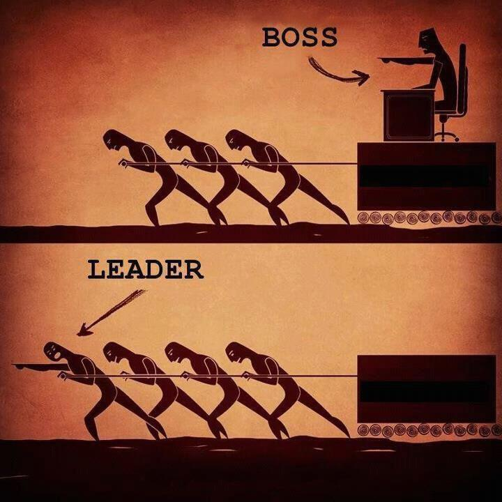 Boss and Leader Difference cartoon
