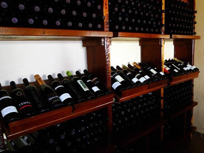 Una amplia selección de vinos