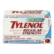 Regular Strength TYLENOL® products are tough on pain, but gentle on your stomach, providing fast, effective relief.  For effective relief of:  Headaches Aches and Pain Fever