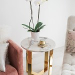 Sydne Style Shows Living Room Home Decor With Marble Gold Side Table Sydne Style