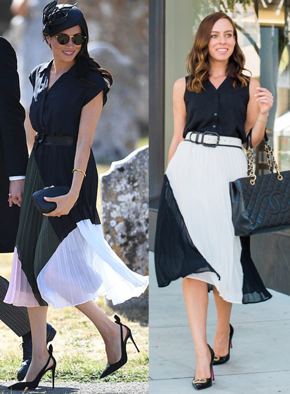 Inspired By Meghan Markles Pleated Dress Sydne Style