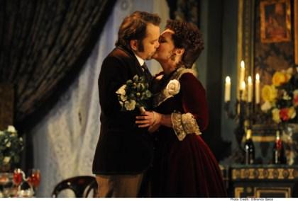 Arnold Rutkowski as Alfredo Germont and Emma Matthews as Violetta Valery. Pic Branco Gaica