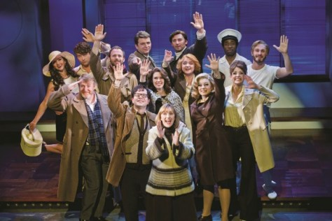 The cast of MERRILY WE ROLL ALONG